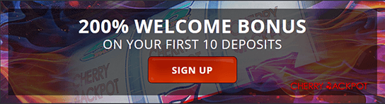 The welcome bonus at Cherry Jackpot online casino